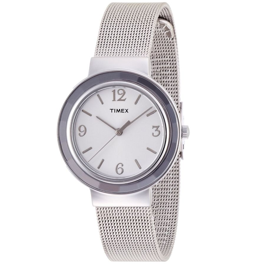 Timex Ladies Dress Watch with Mesh Bracelet T2P196