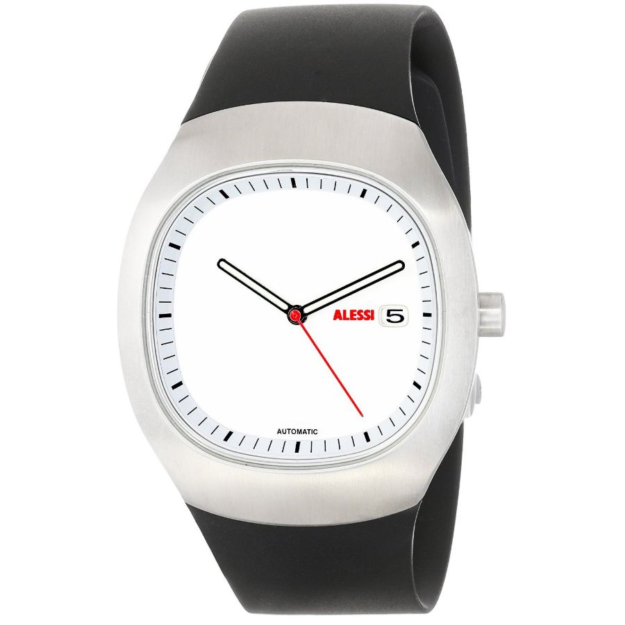 alessi ray automatic watch with white dial al -