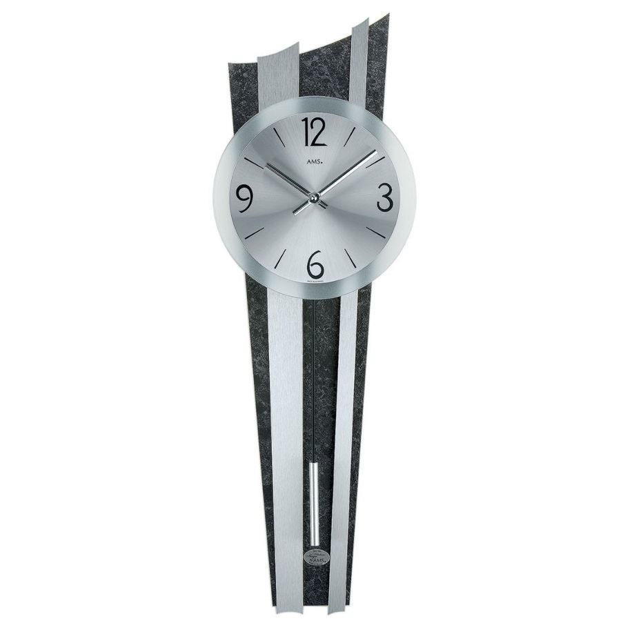 Modern wall clock with quartz movement from AMS AM W9232