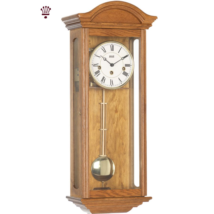 Billib Axford Mechanical Wall Clock In Light Oak Finish