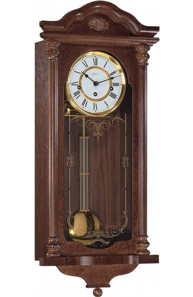 Hermle Fulham Westminster Chime Mahogany Wall Clock 70509