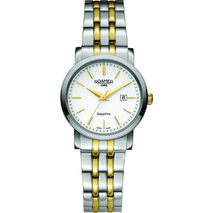 roamer classic line two tone gold silver plated