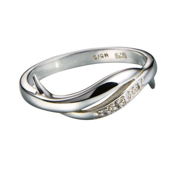 Hot Diamonds Simple Sparkle Silver Ring With Diamonds Dr058