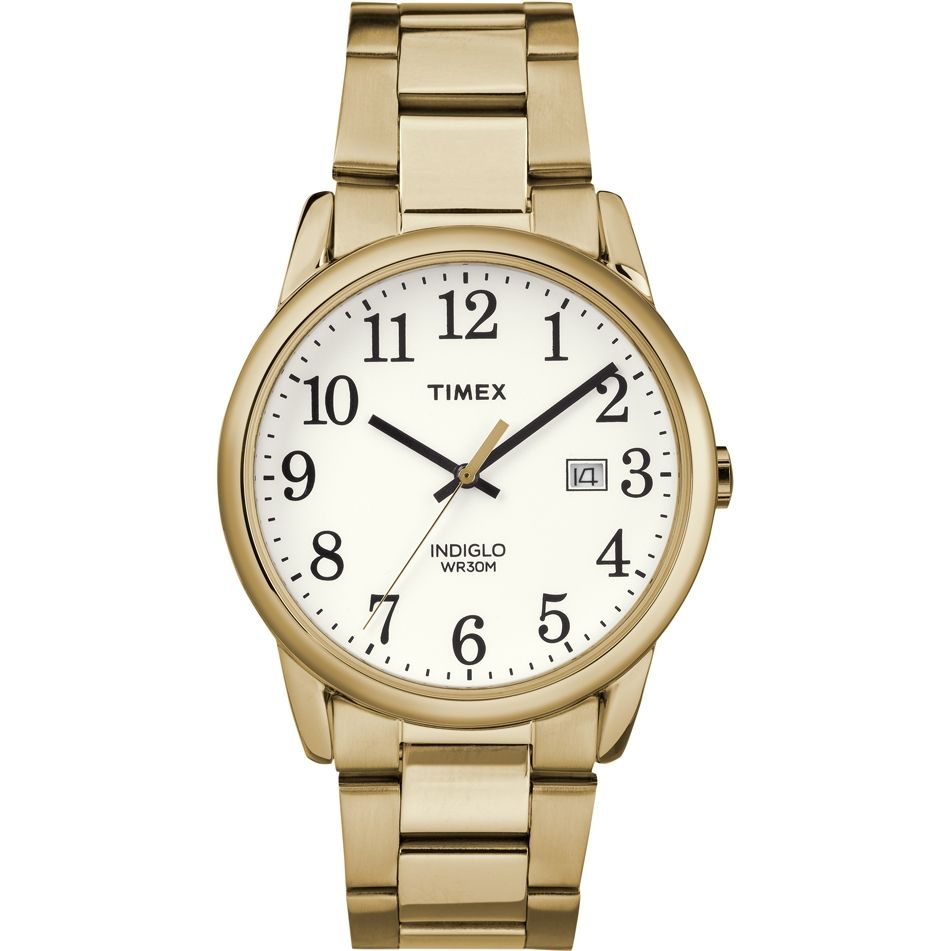 Timex TW2R23600 Easy Reader Gold Stainless Steel Bracelet Watch 34457710a09